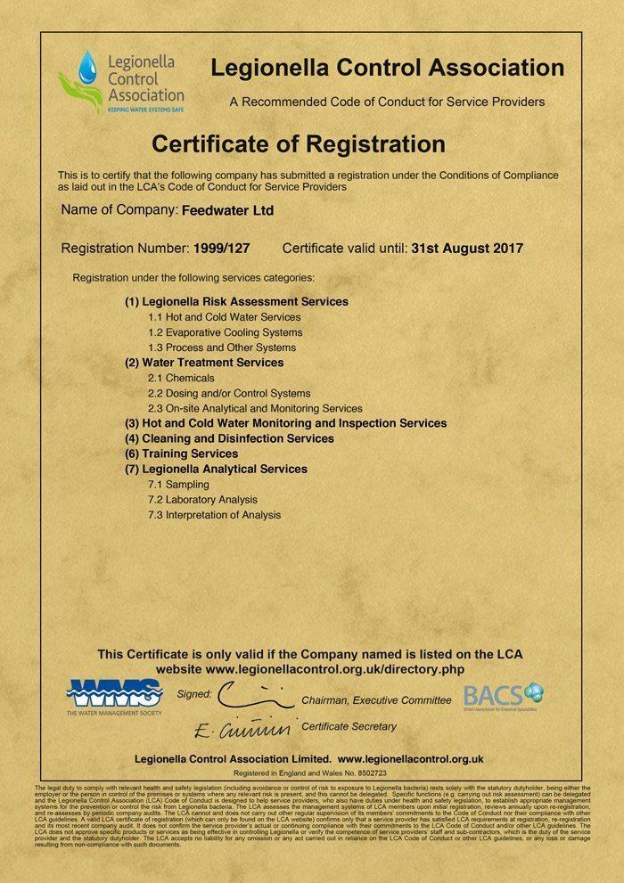 lca certificate 2017