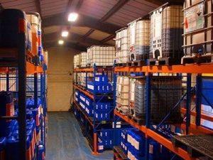 boiler chemical warehouse