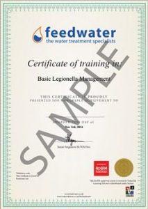 online legionella training certificate