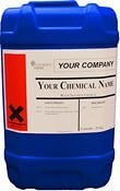 own label chemicals in drum