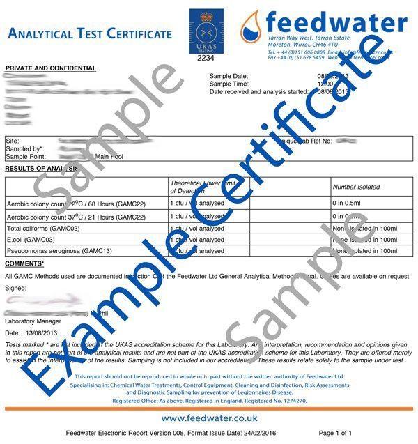 Swimming Pool Spa Pool Water Testing Ukas Lab Analysis