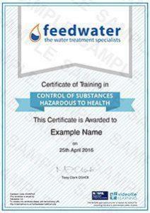 COSHH-certificate