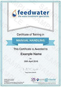 Online manual handling training course with certificate manual handling training certificate yelopaper Choice Image